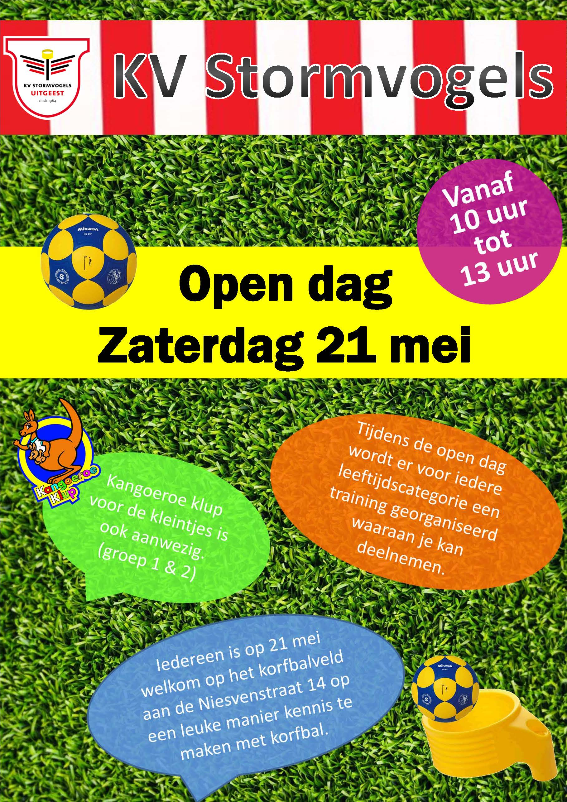 Open dag zaterdag 21 mei.