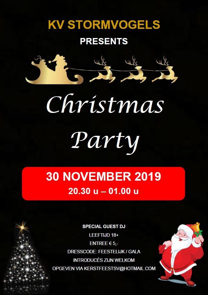 Christmas Party zaterdag 30 november